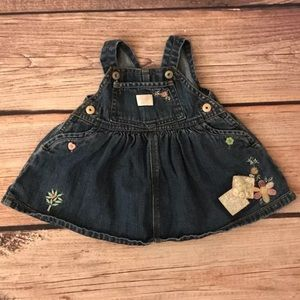 OshKosh jean overall dress 0-3 Months